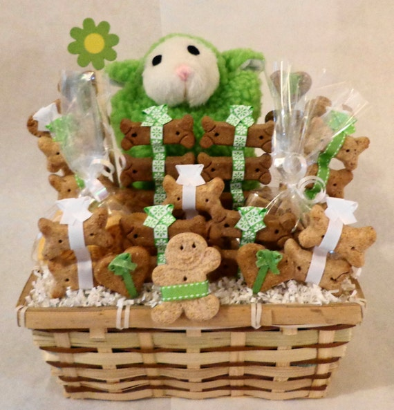 Dog Birthday Gift Baskets : New dog gift basket biscuit treat by