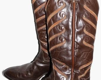 Vintage Tony Lama Boots 10D Retro Rockabilly Western