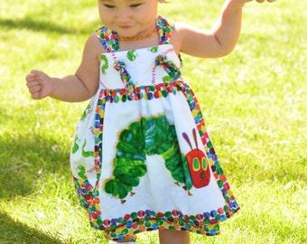 Very Hungry Caterpillar Birthday Dress, The Hungry Caterpillar Party Dress, Toddler Caterpillar Dress, First Birthday Caterpillar Eric Carle