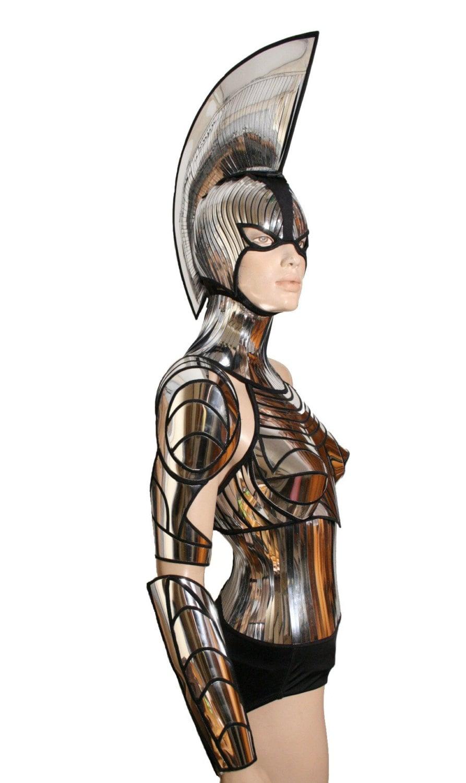 2 piece cyborg cyber robot arm futuristic spartan armour