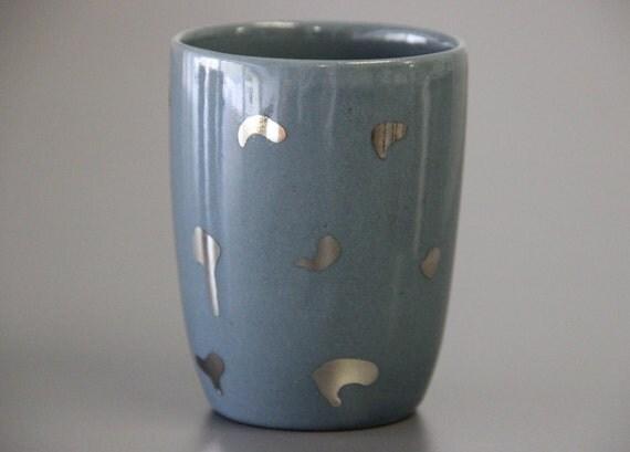 Items Similar To Unique Coffee Mug Metallic Ceramics