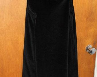 Vintage black velvet tank dress