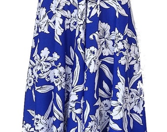 Convertible Hawaiian Halter Top Rayon Dress