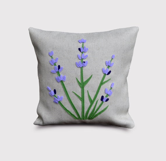 Items similar to Lavender pillow, decorative pillow, lavender, spring, flowers, gift for her ...