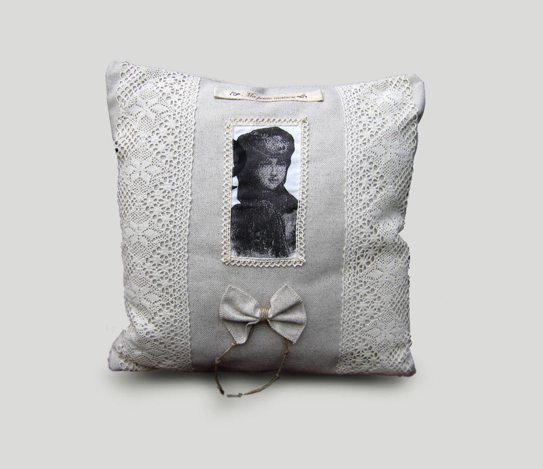 Rustic Decorative Pillow Covers : Rustic linen pillow linen decorative pillow covers retro