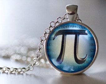 Pi Pendant Necklace - Math Jewelry - Math Necklace - Pi Jewelry