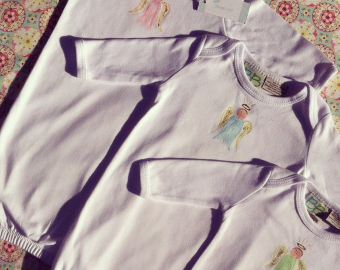 Baby Angel   Hand Painted Cotton Day Gown