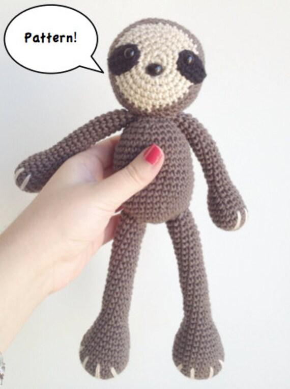 Free Amigurumi Sloth Pattern : Sloth Amigurumi Pattern