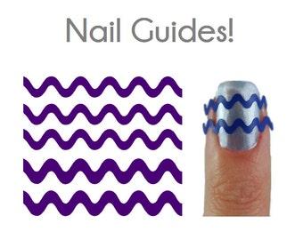 Wavy Squiggle Vinyl Nail Guides