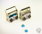 DIY Paper Toy / Favor Box / Container   Miniature Realistic Boom Box Music System Papercraft   Printable Letter and A4 pdf instant templates