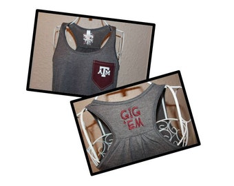 Texas A&M Aggies Racerback Loose Tank