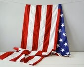 Vintage American Flag - Unites States Flag - 4th of July Decor - Large American Flag - American Flag Wall Hanging - Americana - US Flag