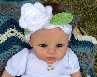 FREE SHIPPING  baby,toddler,children hand crocheted Headband Flower