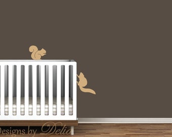 Squirrels Wall Decal - Set of 2