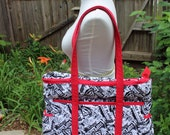CUSTOM ORDER Doctor Who Professional Tote/Purse with Original Fabric Design Custom Printed on Eco Canvas
