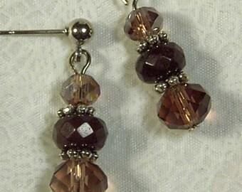 "Cynthia Lynn ""JANUARY'S CHILD"" Ladies January BIRTHSTONE Deep Red Garnet Crystal Earrings 1.5"""