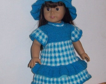 "PDF knitting pattern for 18"" doll, American Girl,Gotz, and similar size dolls"