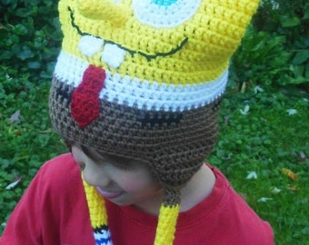 Free Crochet Pattern Spongebob Hat : Popular items for crochet spongebob on Etsy