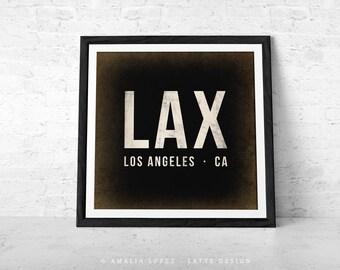 Airport code. Personalized retro print airport print airport poster London print LAX Los Angeles print JFK New York print Fathers Day Gift