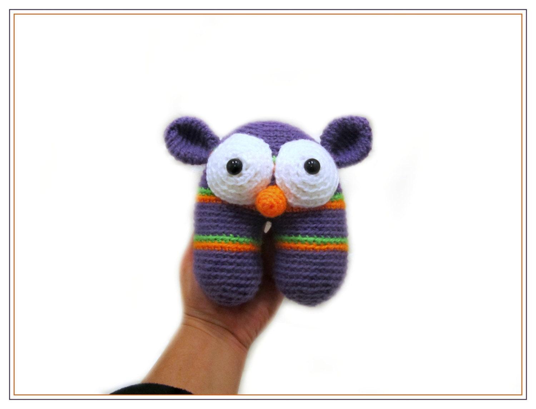 Crochet Purple Monster Amigurumi Alien Stuffed Toy by ...