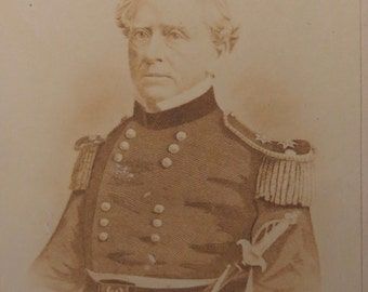 1860's General Dix CDV Photograph - Charles Tabor & Co. - Free Shipping