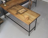 Reclaimed Wood  L Shaped Desk, Wood Desk, Pipe Desk, Reclaimed Wood