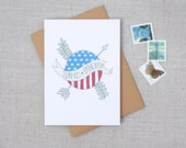 Note Card // Land of Liberty // Patriotic Card // 4th of July Card // A1 Card Size