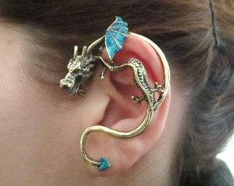 Dragon ear cuff wrap game of thrones inspired dragon - Game of thrones dragon ear cuff ...