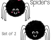Cute Spider Clipart, hand painted clip art, halloween clip art, halloween printable, spider clip art, spider graphic