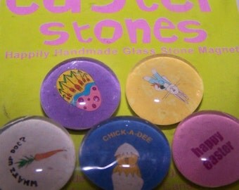 Collection Of Easter Glass Stone Magnets