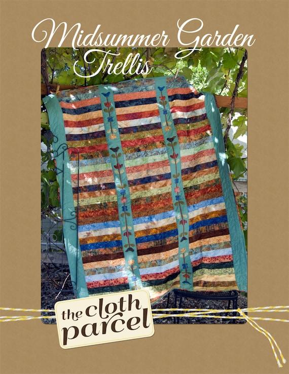 Items similar to midsummer garden trellis quilt pdf for Garden trellis designs quilt patterns