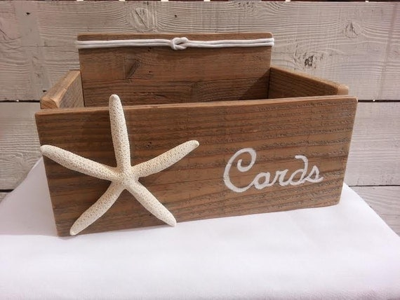 Nautical Wedding Gift Card Holder : Beach Nautical Card Box Wedding Cards Holder Starfish with Nautical ...