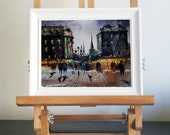 Rome,Italy, Original acrylic painting, free shippng