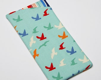 Glasses Case, Eyeglass Case, Sunglasses Case in Soaring Seagull Fabric
