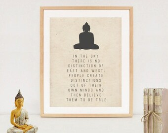 Buddhism poster Spiritual Typography Wall Art Print - Buddha quotes - Digital download - Zen printable