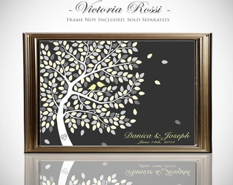 Custom Wedding Guest Book // Wedding Guest Book Ideas // Wedding Tree Guestbook // 24x36 Inches on Canvas or Print FREE SHIPPING
