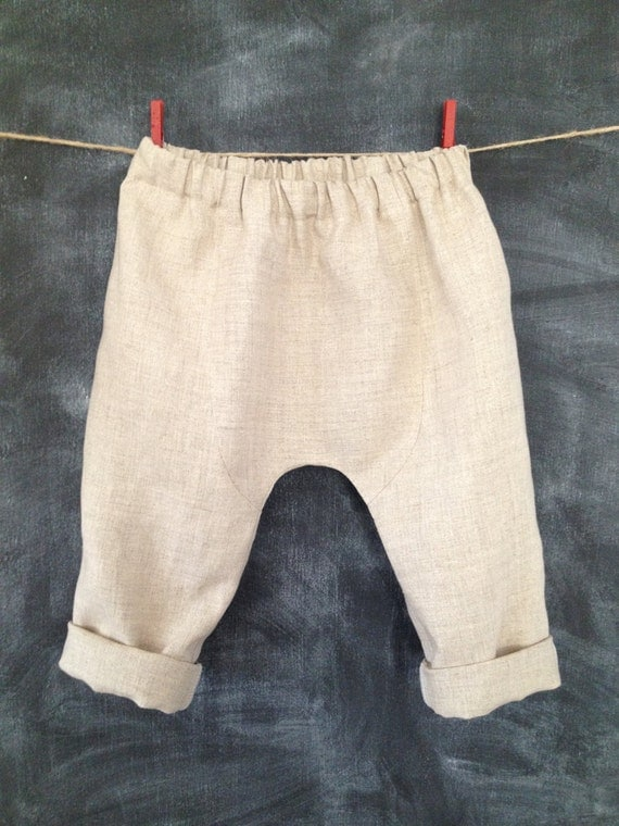 Baby Linen Pants Big Butt Pants Loose by BabySuzannaJohanna