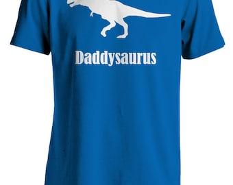 Dinosaur T-Shirt, Daddysaurus, T-Rex, White