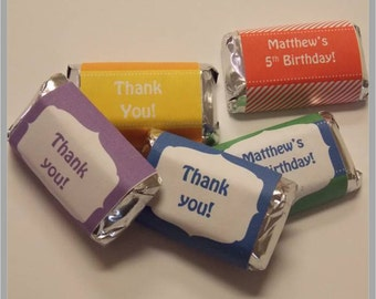 Colorful Mini Hershey Candy Wrappers ... Instant Download