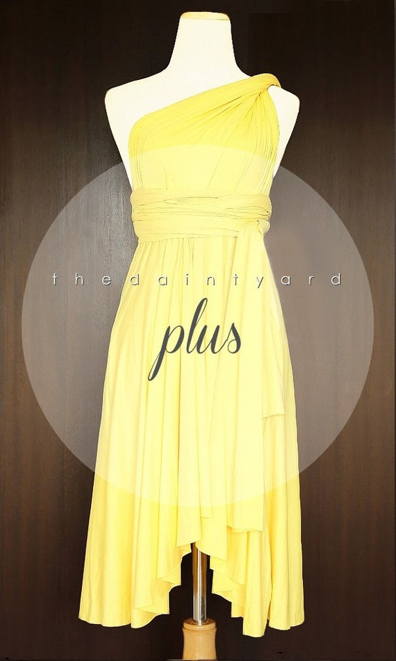 Yellow Plus Size Bridesmaid Dresses Only 24