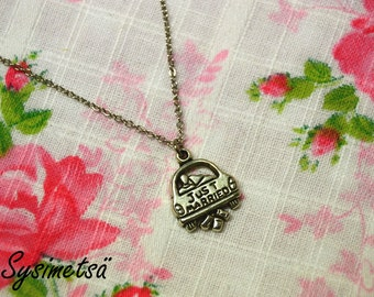 Just Married necklace, bride necklace, wedding necklace, bridal necklace, marriage necklace, bridal jewelry, wedding jewelry - Nickel Free