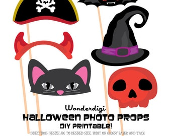 photo booth props clipart party hats halloween photo booth diy printables - Halloween Photography Props