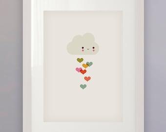 Cloud Love — A3 Print