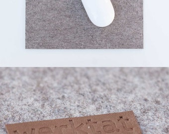 Wohltat WT0813, felt mousepad, merino wool, gray