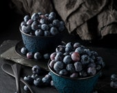 Large Wall Art — Still Life, Blueberries, Food Photography, Oversized Art, Kitchen Decor, Dining Room Decor, Restaurant Decor, Home Decor