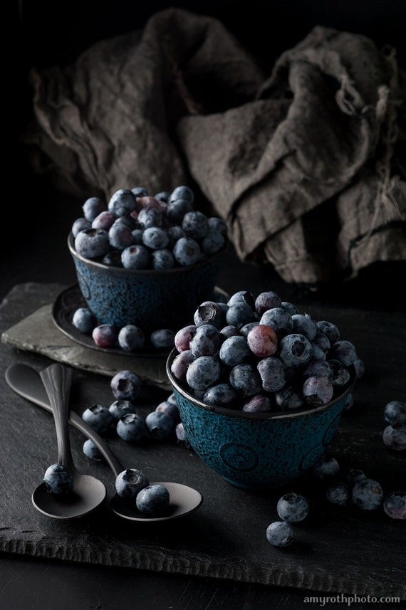 Large Wall Art Still Life Blueberries Food Photography