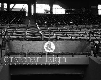 Fenway Red Sox Tunnel photo Black & White - Boston Red Sox decor, fine art photography, baseball, den, man cave, office, bar