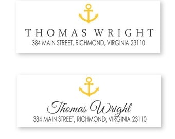 Anchor Return Address Labels, package of 48