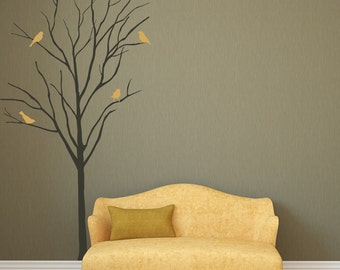 Stick On Wall Art vinyl art decal realistic african tree wall sticker decals