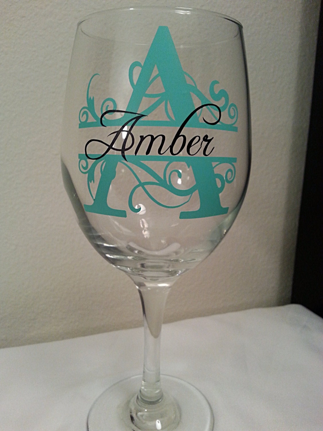 sale personalized wine glass choose your vinyl colors perfect